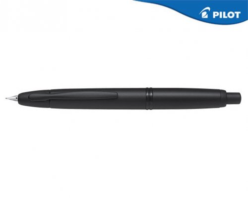 PILOT ΠΕΝΑ 18Κ. CAPLESS BLACK MAT RHODIUM FINE ΜΑΥΡΗ